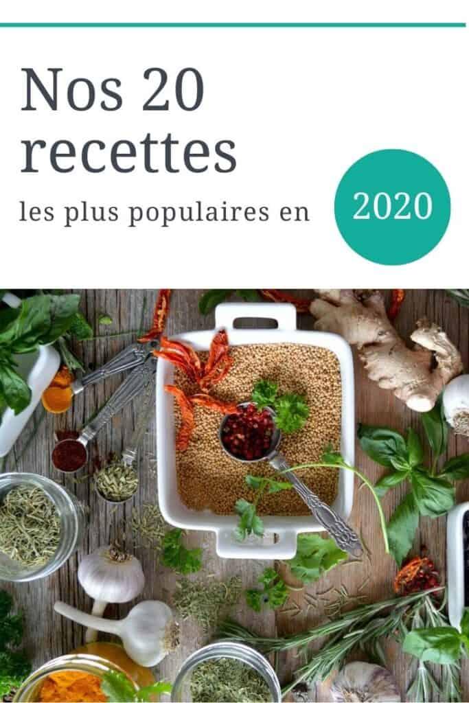 Nos 20 recettes les plus populaires en 2020