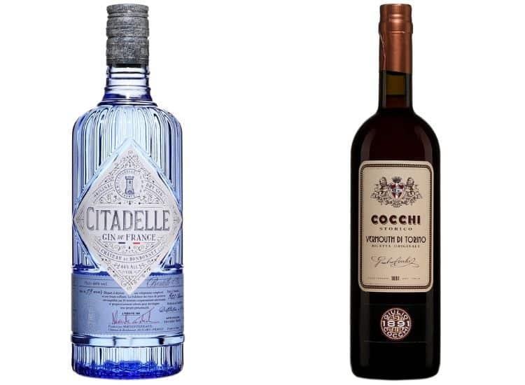 Le gin Citadell et le Cocchi Vermouth di Torino