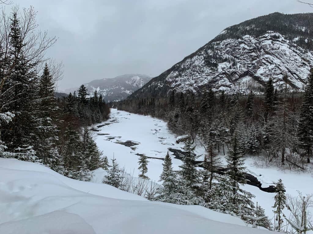 Vue sur la Rivière Malbaie