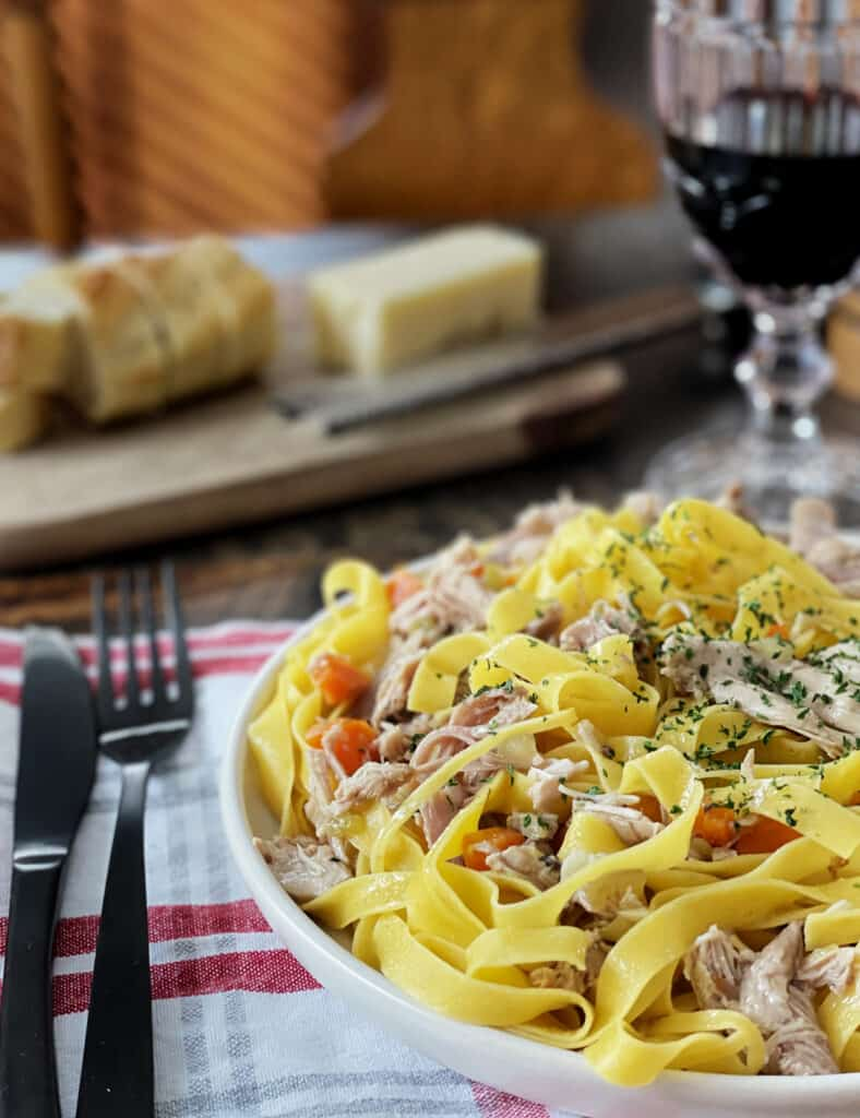 Braised and Pulled Turkey Pasta