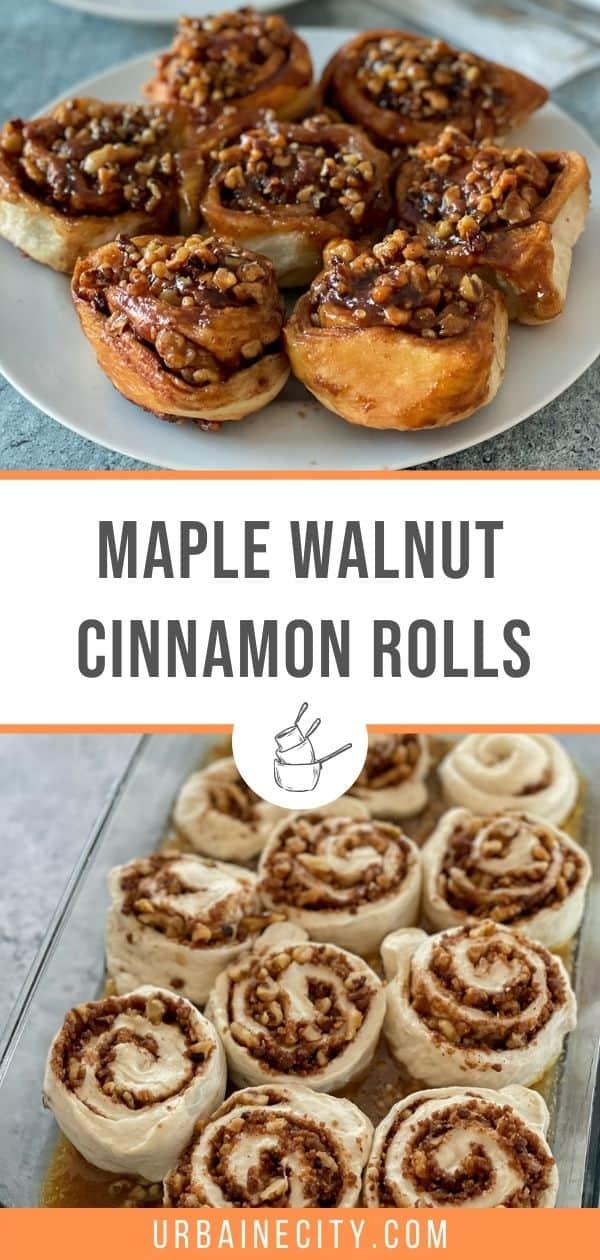 Maple walnut cinnamon rolls easy recupe