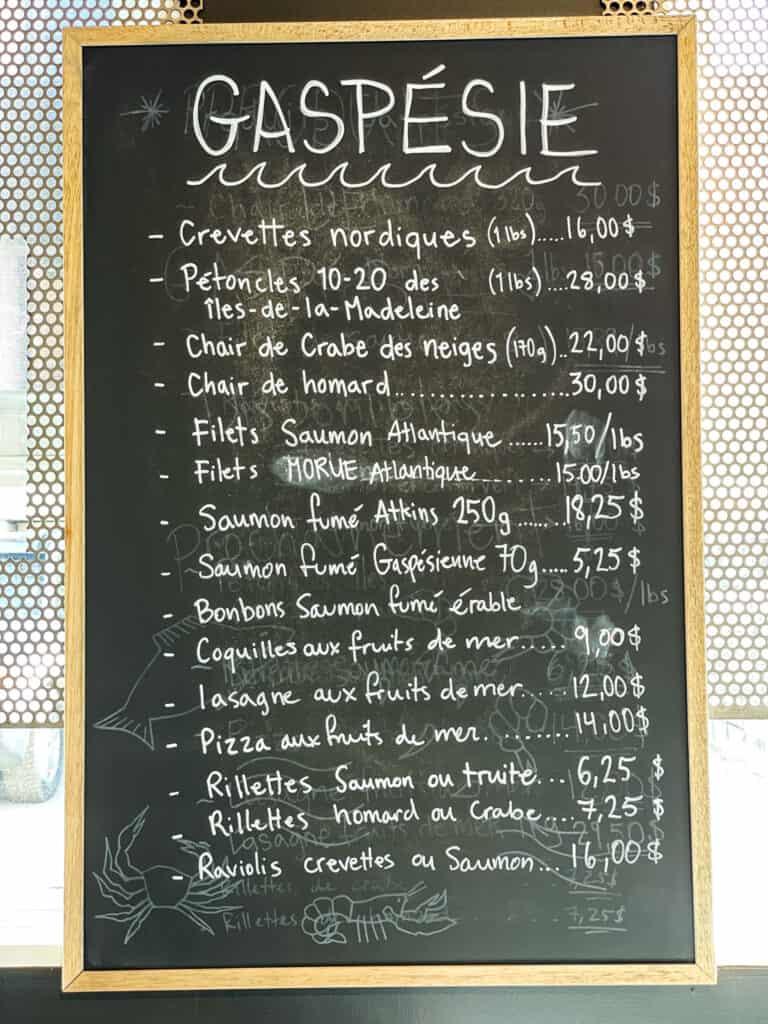Belle place faite aux produits de la Gaspésie à la boutique CinqàSept