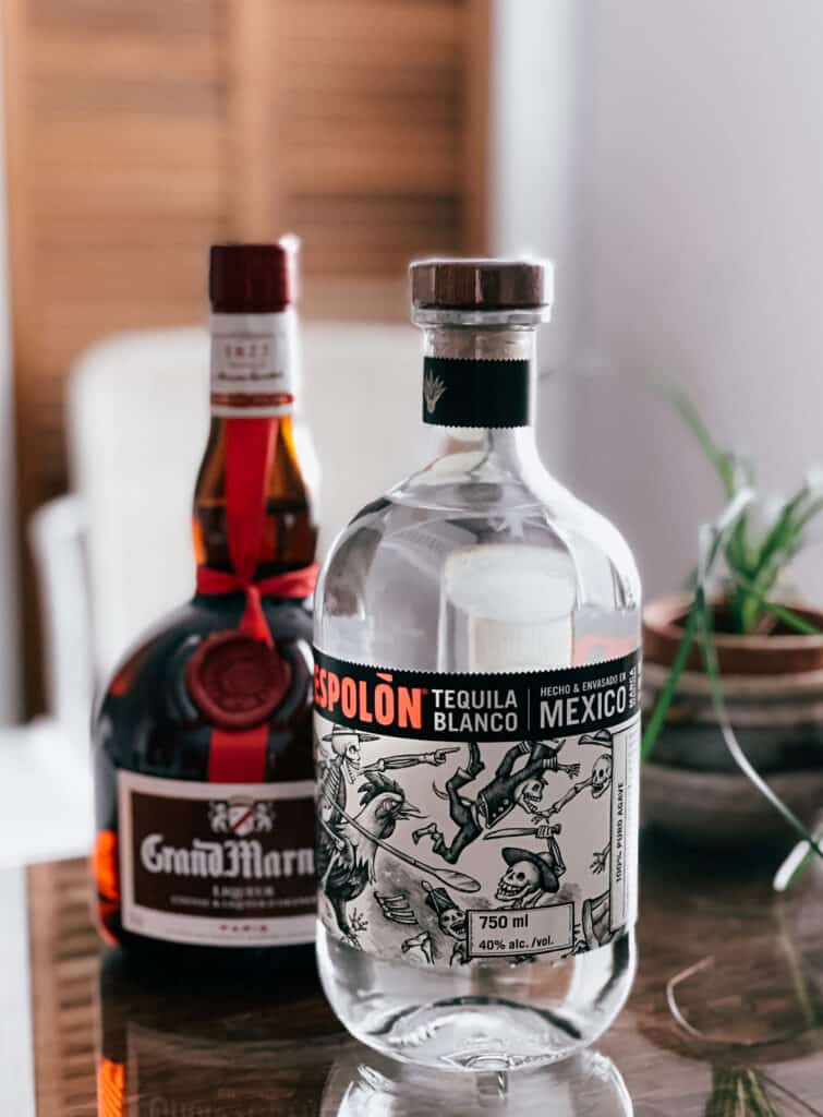 tequila Espolon et cognac Grand Marnier