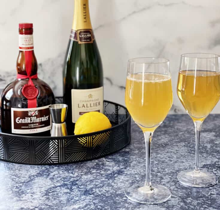 Grand 75 with Grand Marnier and Champagne