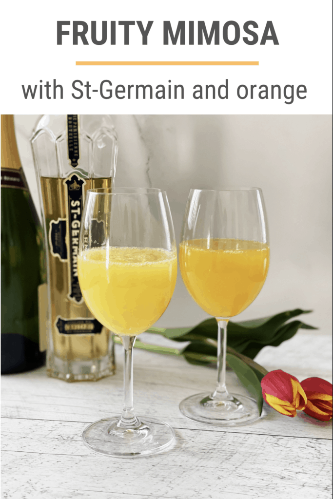 Fruity mimosa recipe with St-Germain Liqueur