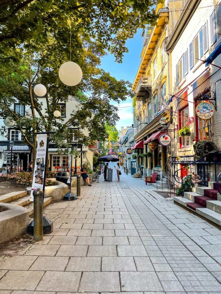 Rue du Vieux-Québec dans le quartier Champlain