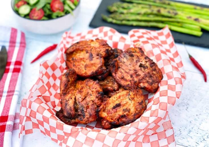 BBQ Grilled Turkey Thighs Cajun Style