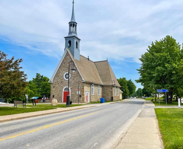 Une église sur l'ile d'Orléans
