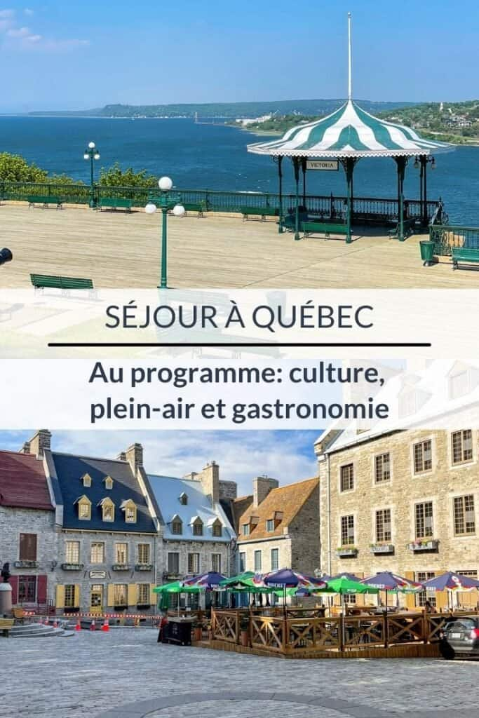 Séjour à Québec - Au programme : culture, plein-air et gastronomie