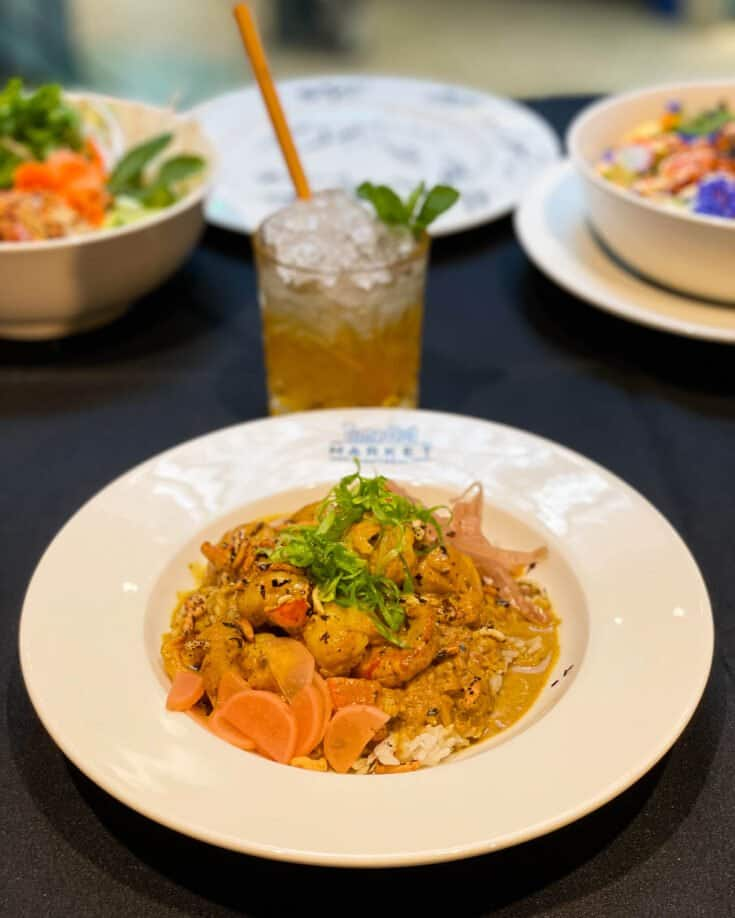 Curry caraïbéen shrimp