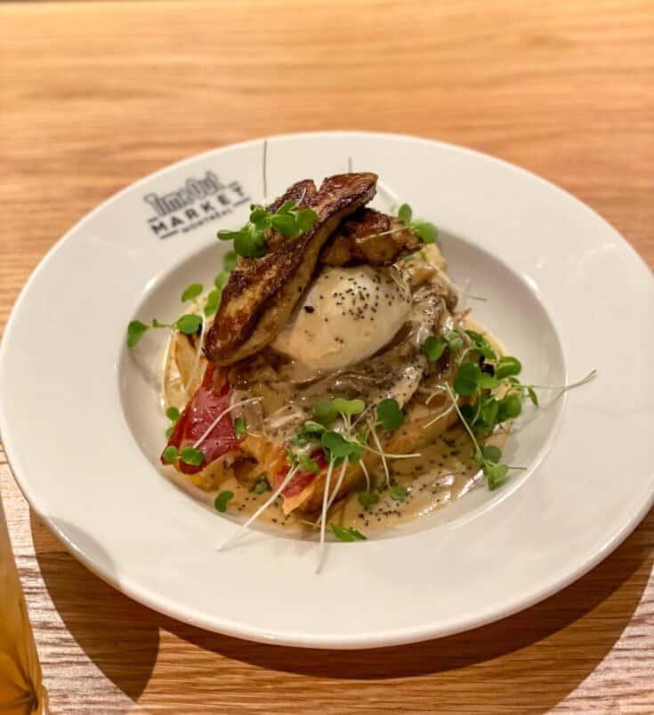 Oeuf poché au foie gras du Passé Composé