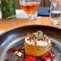 Vin Orange Bu et dessert